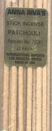 Anna Riva Patchouli Incense Sticks
