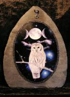 Owl & Triple Moon Slate