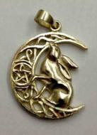 Lisa Parker Single Hare Pendant - Bronze