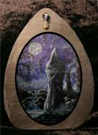 Hooded Figure in Moonlight Slate