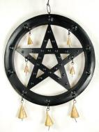 Black Pentagram Wind Chime
