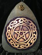 Golden Celtic Pentagram Slate