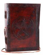 Large Leather Pentagram Journal