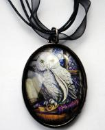 Lisa Parker Owl & Books Picture Pendant