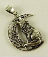 Lisa Parker Wolf Pendant - Silver