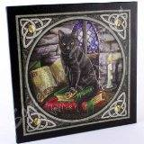 Lisa Parker Cat & Spell Book Plaque
