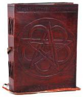 Pentagram Leather Journal With Cord