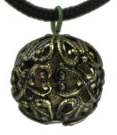 Round Amber Resin Necklace