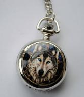 Lisa Parker Wolf Mini Pocket Watch