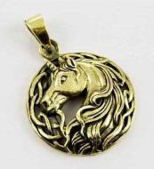 Lisa Parker Unicorn Pendant - Bronze