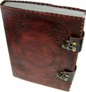 Large Leather Pentagram Book of Shadows with Latches
