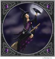Witch & Raven Card