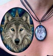 Lisa Parker The Wild One - Wolf Head Picture Pendant