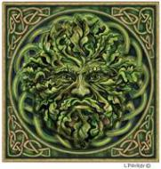Lisa Parker Green Man Design Card