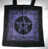 Purple Celtic Pentacle Tote Bag