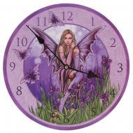 Lisa Parker Fairy With Irises Picture Clock