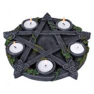 Wiccan Pentagram Tea Light Holder