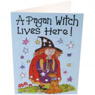 Pagan Witch Card