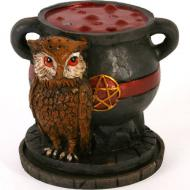 Lisa Parker Cauldron & Owl Incense Burner