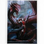 Scarlet Mage Magnet - Anne Stokes