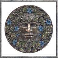 Green Man Beltane Plaque