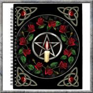 Lisa Parker Pentagram Rose Journal