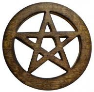 Small Wooden Pentagram Altar Tile