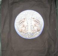 Lisa Parker Moon Gazing Hares Canvas Bag