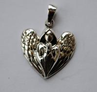 Lisa Parker Guardian Angel Pendant - Silver
