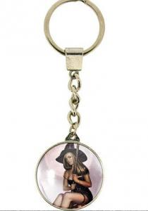 Rowan the Witch Next Door Glass Keyring