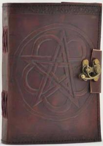 Leather Pentagram Journal With Latch