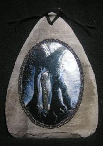 Lady in Tree Slate