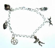 Enchanted Forest Silver Charm Bracelet