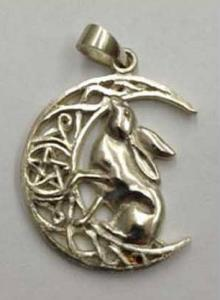 Lisa Parker Single Hare Pendant - Silver