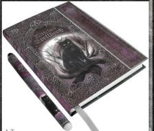 Embossed Witches Spell Book & Pen