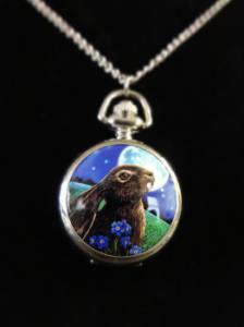 Lisa Parker Moon Gazing Hare Pocket Watch