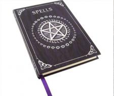Embossed Spell Book - Purple