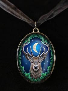 Lisa Parker Emperor Red Stag Picture Pendant