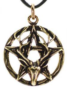 Bronze Pentagram Stag Necklace