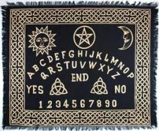 Ouija-Board Altar or Tarot Cloth