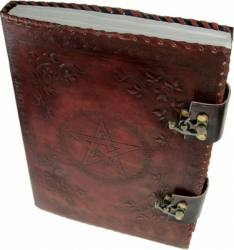 Large Leather Pentagram Book of Shadows