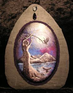 Tree Goddess & Crows Slate