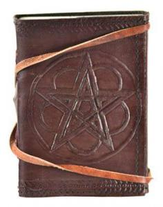 Small Leather Pentagram Journal With Cord