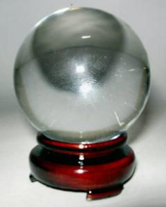 Crystal Ball 60mm with Wooden Stand