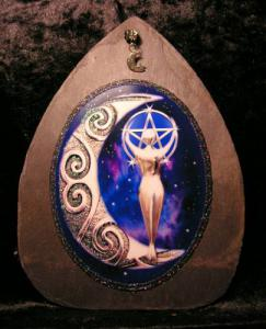Silver Moon Goddess Purple Universe Slate