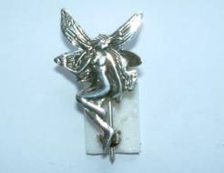Silver Fairy Brooch