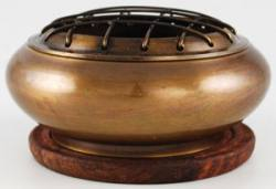Brass Screen Incense Holder  With Coaster