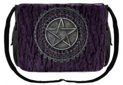 Purple Pentagram Messenger Bag