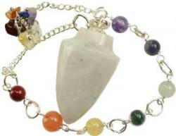 Rainbow Moonstone Pendulum with Chakra Chain