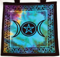 Triple Moon Pentagram Tote Bag - Colour